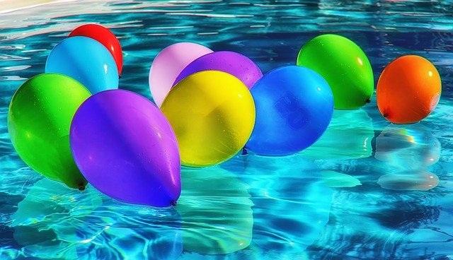 samostoječi bazen baloni