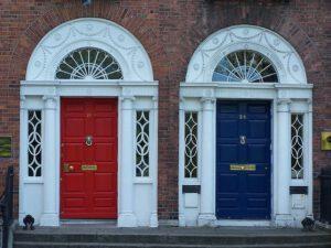 vhodna vrata modra